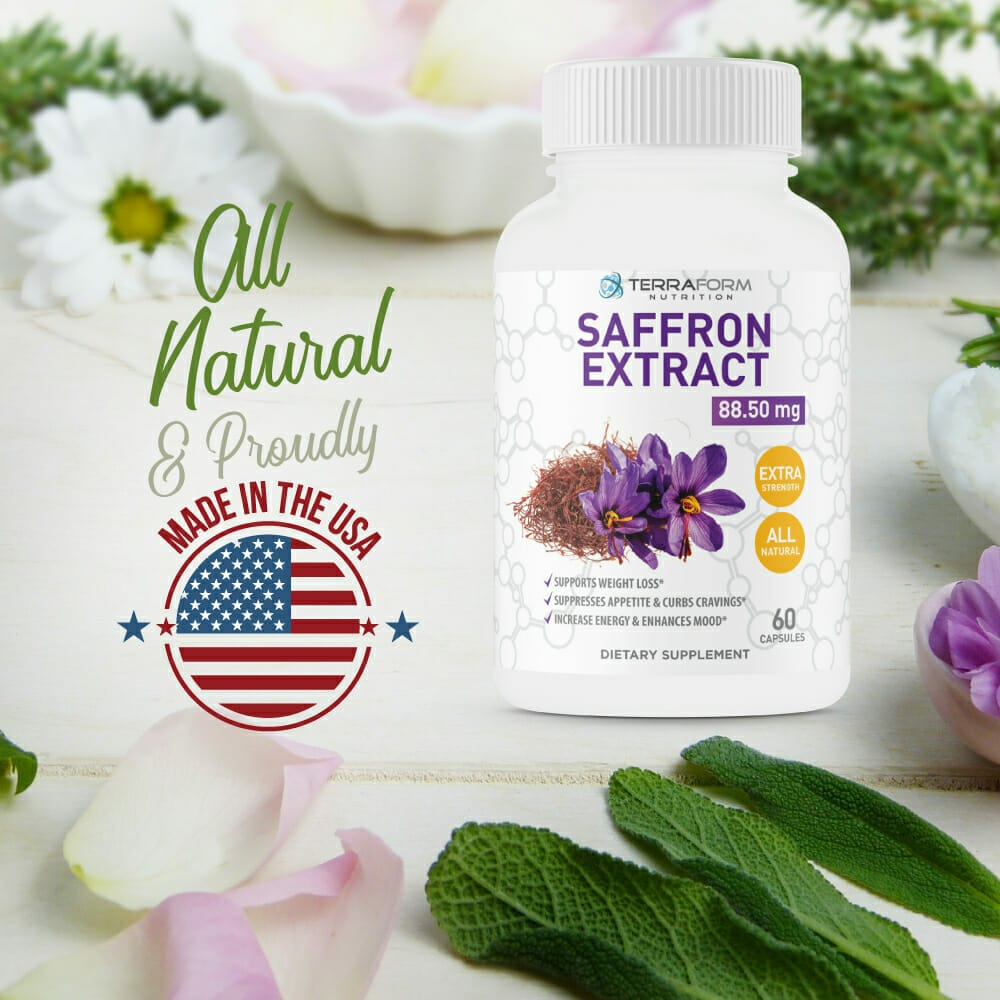 Pure Saffron Extract 88 5mg 60 Capsules Terraform Nutrition