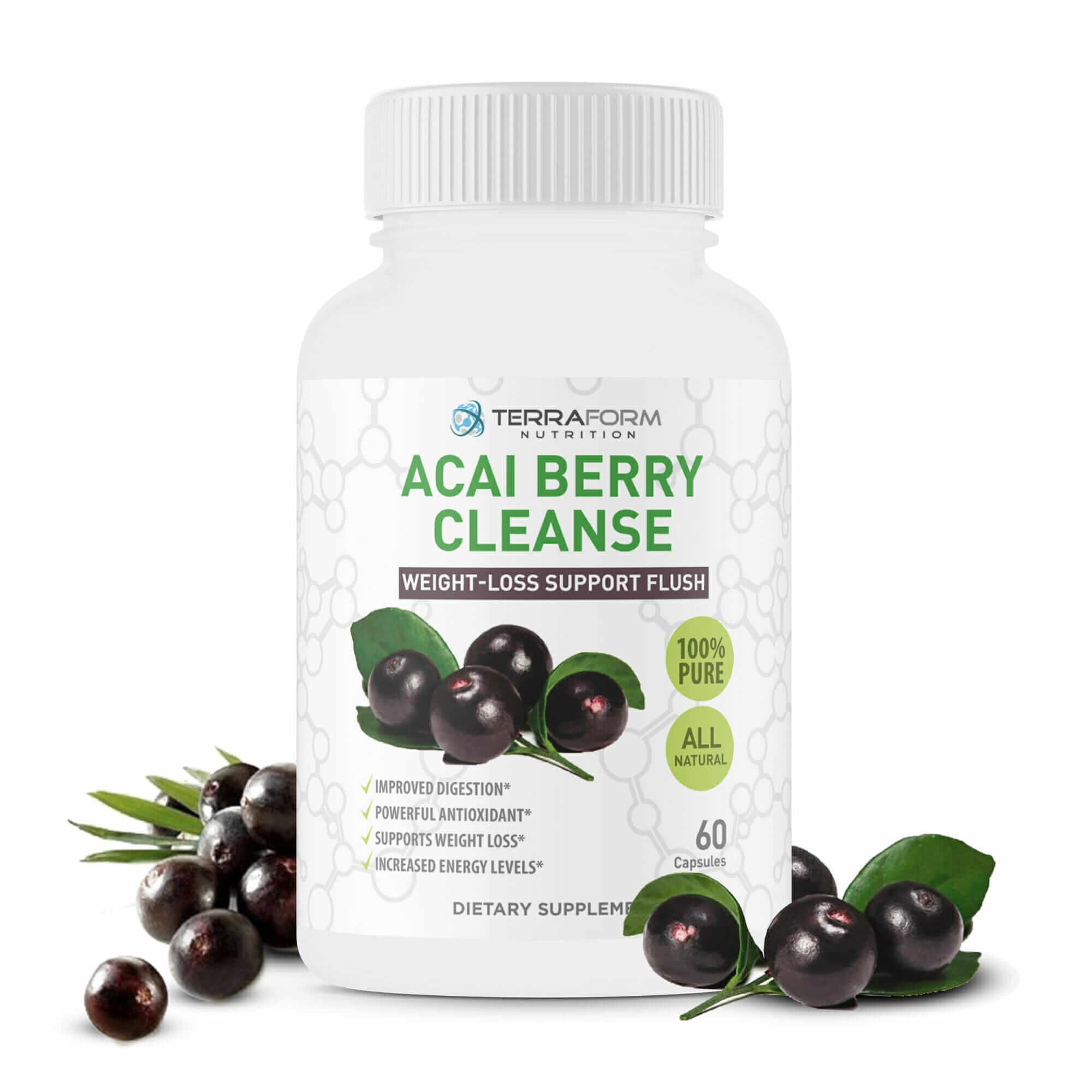 Natural Acai Berry Cleanse 60 Capsules Terraform Nutrition